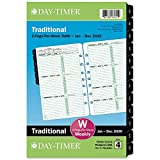 """Day-Timer 2020 Weekly Planner Refill, Two Pages Per Week, 5-1/2"""" x 8-1/2"""", Desk Size 4, Loose Leaf, Classic (91010)"""