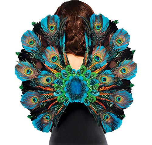 AMSCAN Peacock Feather Wings Halloween Costume Accessories for Adults, One -