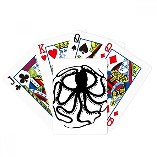 Black Octopus Marine Life Pattern Poker Playing Card Tabletop Board Game Gift by beatChong