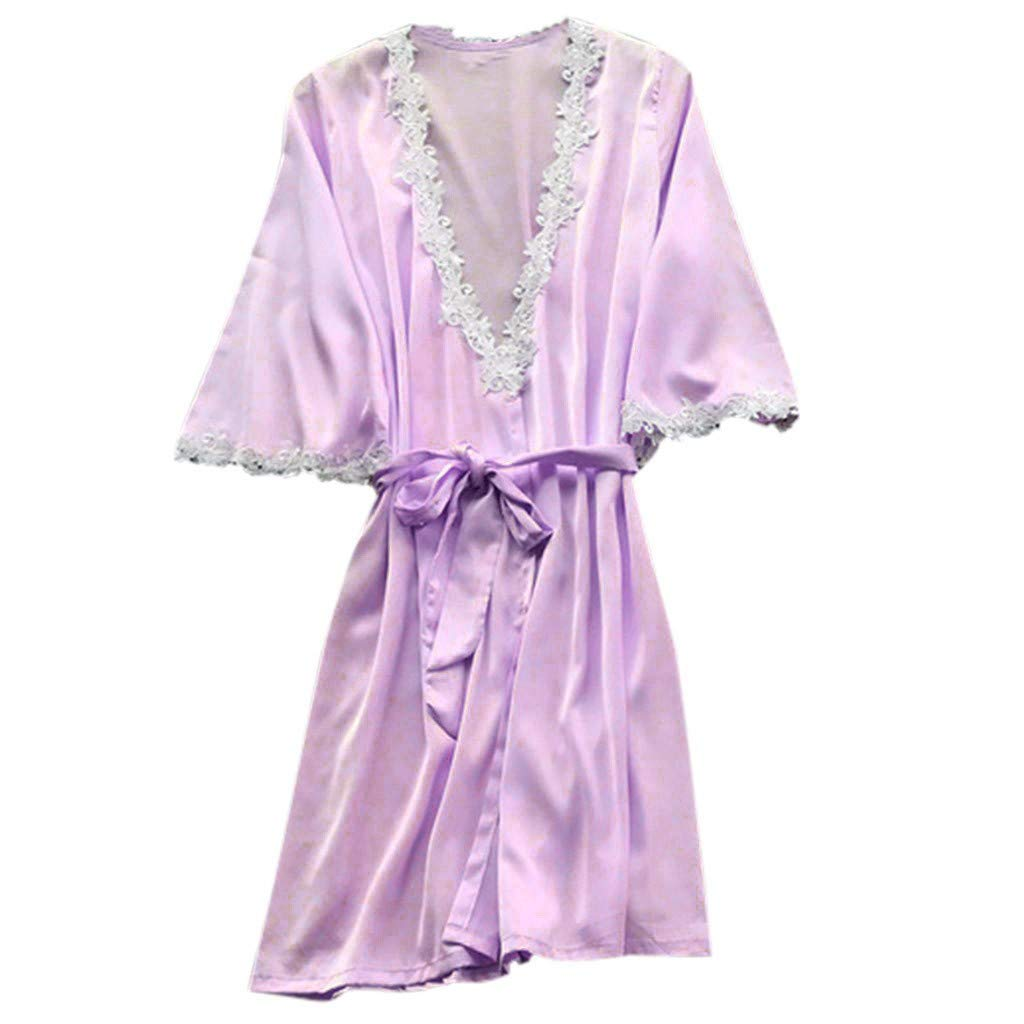 Womens Satin Robe,Silky Kimono Bathrobe for Bride Bridesmaids,Wedding Party Loungewear Short with Oblique V-Neck