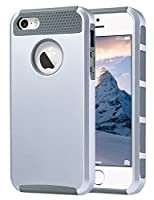 iPhone SE Case, iPhone 5S Case, iPhone 5 Case, ULAK Slim Dual Layer Protection Case Shock Absorbing Hard Rugged Ultra Protective Back Rubber Cover