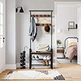 VASAGLE Coat Rack, Hall Tree with Shoe Bench for
