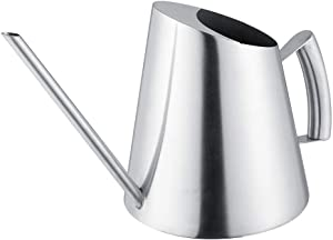 MAGT Watering Can 1500ml Stainless Steel Watering Can Brushed Garden Planting Indoor Outdoor