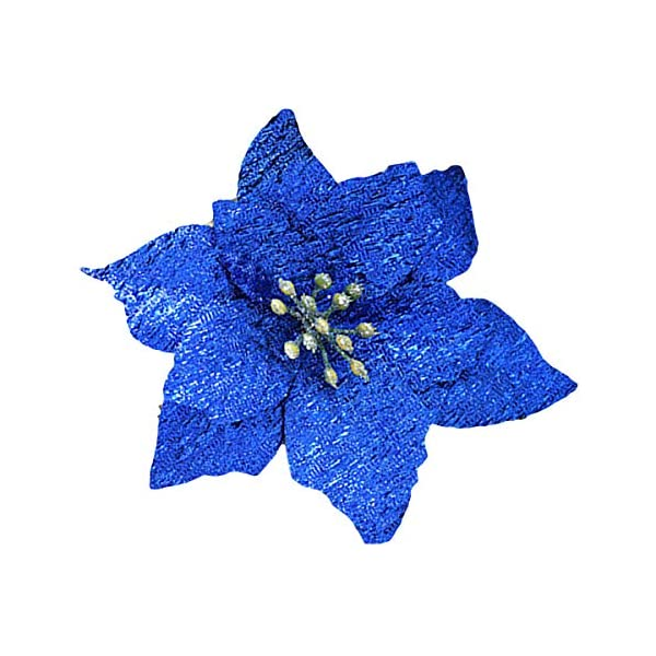 Hanobo-20-Pcs-Gold-Glitter-Artificial-Flowers-Christmas-Tree-Wreaths-Ornaments-5-Inch