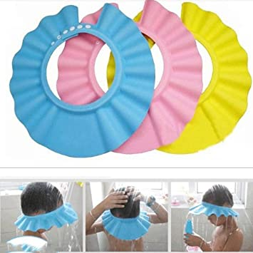 Buytra 3 Pack Shampoo Shower Bathing Protect Soft Cap Hat For Baby Children Kids