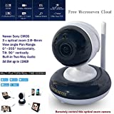 Microseven 2.8~8mm HD Pan/Tilt 3x Optical Zoom 1080P Indoor SONY 1/2.9' CMOS Built-in 2-Way Audio PTZ WiFi IP Camera Day & Night 128GB +iOS / Android App Free M7 Cloud+Live Streaming on microseven.tv
