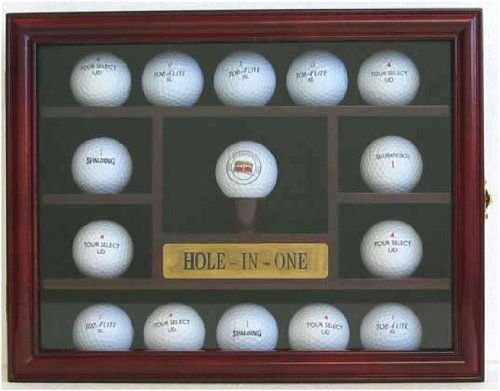 Amazon.com : 15 Golf Ball Display Case Holder Wall Cabinet, Hole In One  Plate, (Cherry Finish) : Sports Related Display Cases : Sports U0026 Outdoors