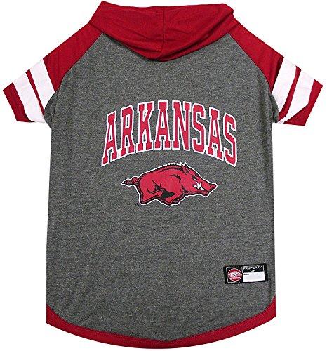 Arkansas Razorbacks NCAA Hoodie Dog Pet Tee T-Shirt (Small)