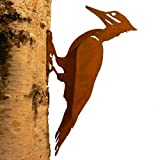 Elegant Garden Design Pileated Woodpecker, Steel Silhouette with Rusty Patina For Sale