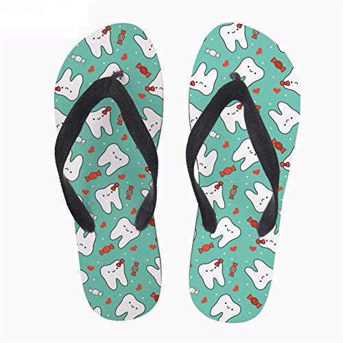 Lightweight Sandals Flip Flops Womens 1 Printed Comfortable Coloranimal Dentist Printed Nurse Cute Summer Etz4wq8