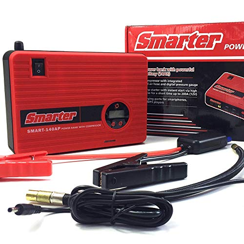 Why Should You Buy Car Jump Starter with Air Compressor, 400 AMP Peak Smart Jump Cable, Compressed Air hose and Digital Pressure Gauge, 14000mAh Li-on Battery Jump Pack, Built-in 2 USB Ports and LED Light