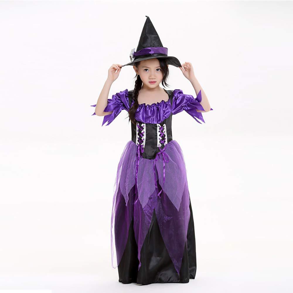 KTYX Disfraz De Cosplay De Halloween Cosplay Bruja Vestido De Escenario Falda para Niño Vestidos de Halloween (Tamaño : L)