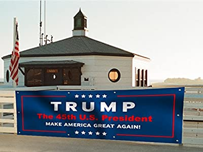 3x8ft -- Trump Yard Sign Garden Banner Flag w/ 10 Grommets -- the 45th U.S. President Donald Trump Flag -- MAKE AMERICA GREAT AGAIN!