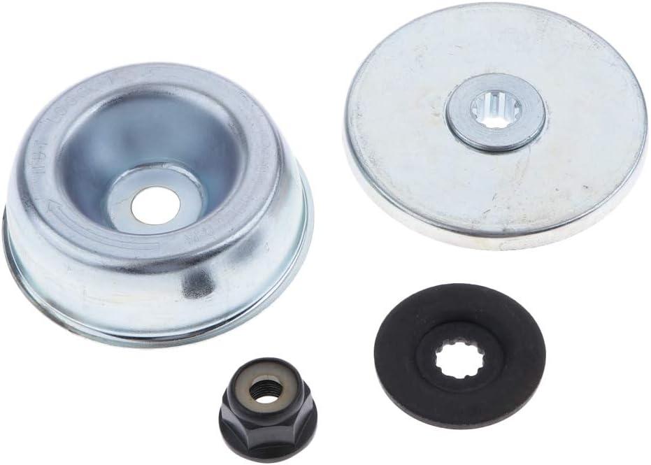 LOVIVER 4 Pcs Piezas de Repuesto Cortacésped Arandela de Empuje, Tuerca de Collar, Placa de Refuerzo para STIHL FS120