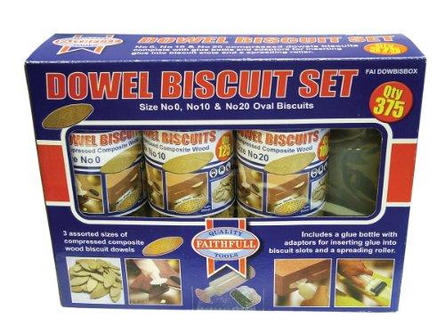 Faithfull Kit 375 No.0/ No.10/ No.20 Biscuit Wood