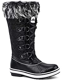 Womens Cold Weather Winter Boots, Waterproof Snow Boots, Fashion Booties, All-Day Comfort, Warm