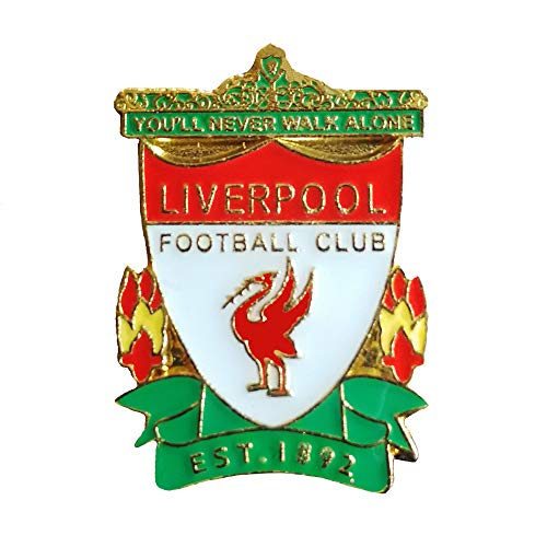 ZQfans Football Club Soccer Team Logo Badge Metal Crest Pin for Soccer Fans (Liverpool)