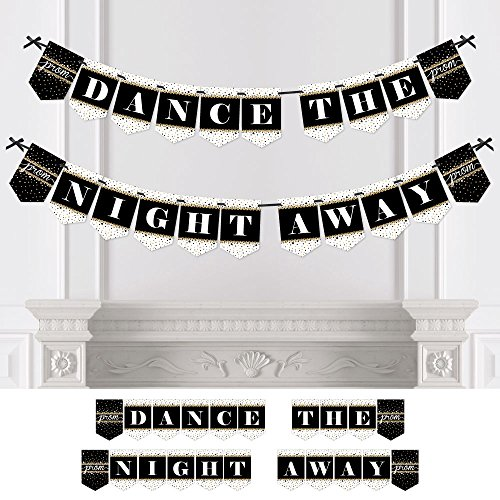 Big Dot of Happiness Personalized Prom - Custom Prom Night Bunting Banner & Decorations - Prom Custom Banner
