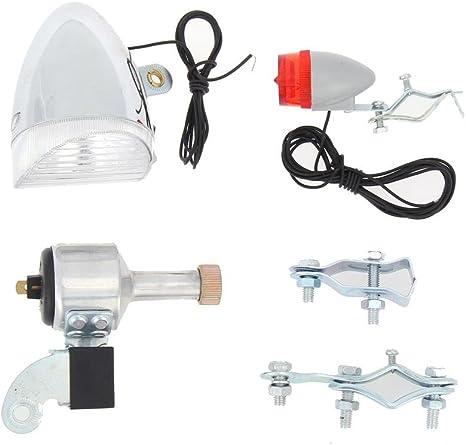 Starnearby Juego de luces dinamo para bicicleta (sin pilas ...