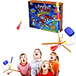 Complete Foam Rockets with Pump Launcher Set - Mega Pack of 2 Amazing Rockets - Outdoor Activity Play Kids Toy Set