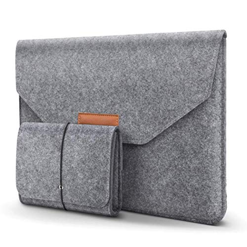 rateim Fashion Felt Laptop Bag Protective Case Ultra Slim Tablet Bag Sleeves from rateim