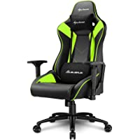 Sharkoon Elbrus 3 Gaming Chair/ Seat, Durable upto 150 Kgs - Black/ Green