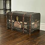 Household Essentials 9243-1 Large Vintage Decorative Home Storage Trunk - Luggage Style