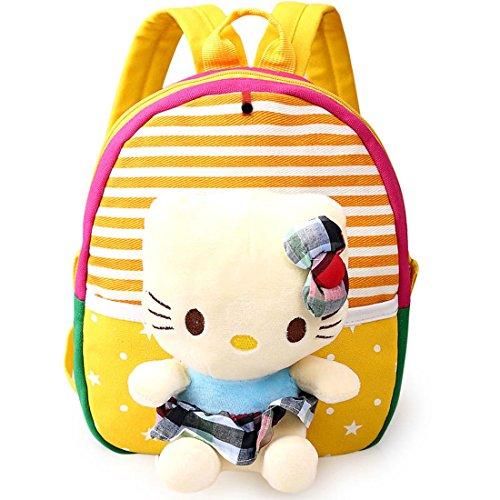 Hsu Cat (HBOS Kids School Bag 3D Cute Zoo Cartoon Pre School Toddler Sidekick Bags Snack Backpacks,Yellow Cat)