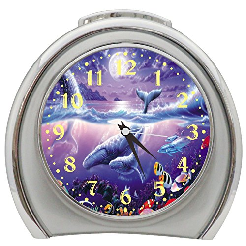 Whales Dolphin Fish Table Desk Alarm Clock Night Light h0169 - Dolphin Alarm Clock
