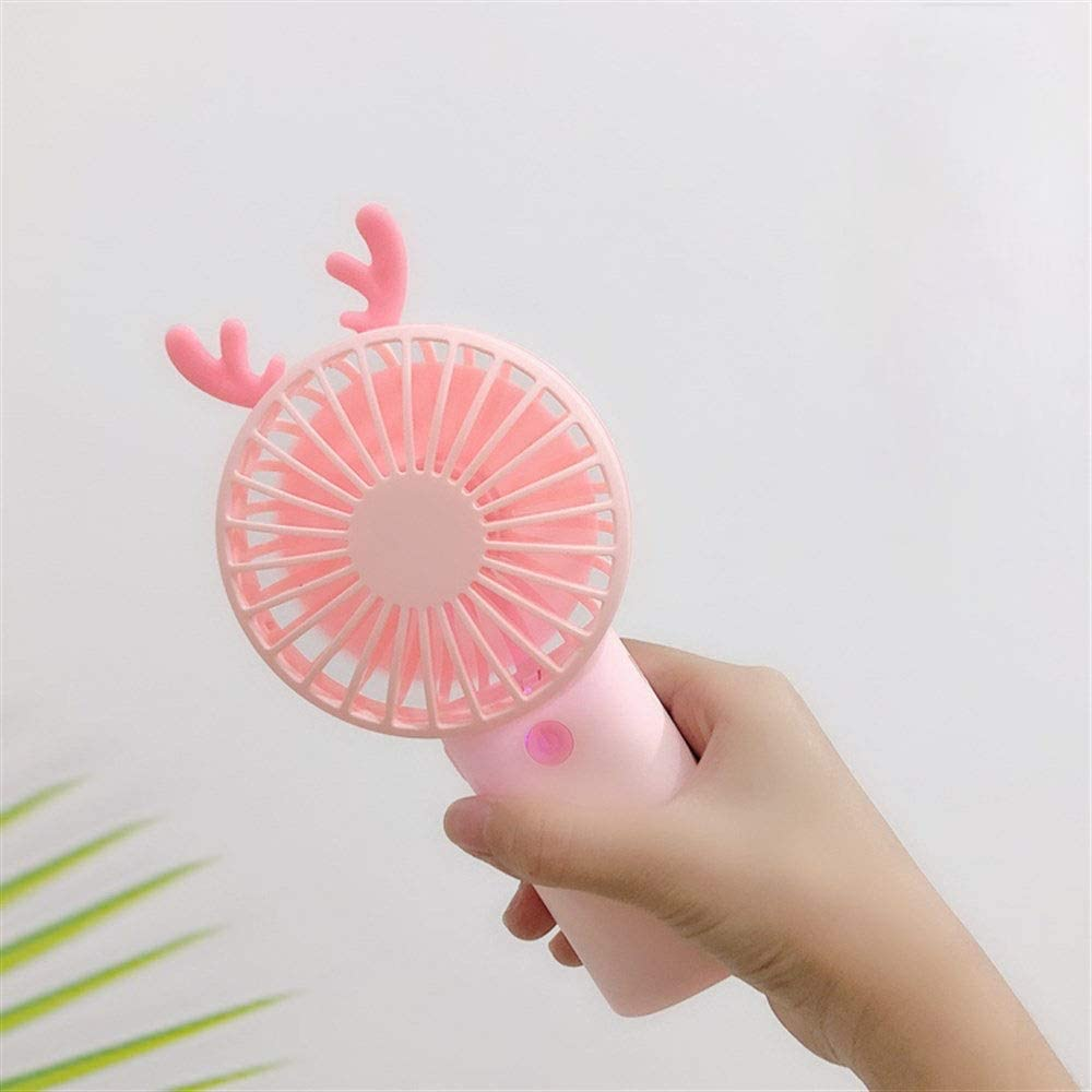 8.84.518.3cm//3.521.87.32 Inches, White//Pink//Blue//Brown Color : White Portable Office Refreshing Style Yougou01 Fan Summer Student Handheld USB Charging Fan