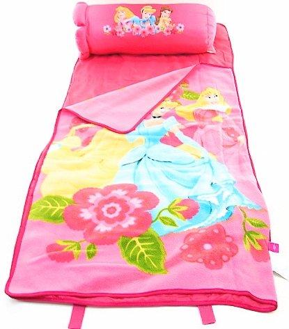 Disney Princess 2in1 Slumber Pal Nap Mat & (Sleeping Bag With Pillow Attached)