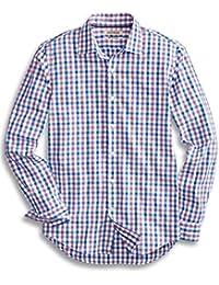 Men's Slim-Fit Long-Sleeve Checked Shirt