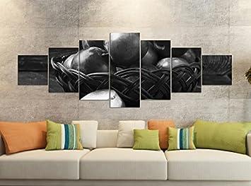 Amazon De Leinwandbilder 7 Tlg 280x100cm Schwarz Pflaume Pflaumen