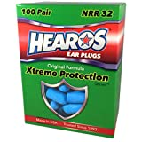 HEAROS XTREME 100 Pair Foam EAR PLUGS With NRR 32 Noise Canceling Hearing Protection