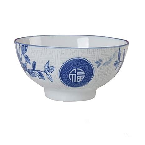 Liuwenan Tazón Tazón de arroz Tazón de cerámica Estilo Chino Retro ...