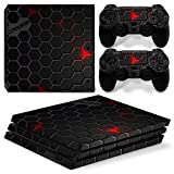 Stillshine PS4 Pro Vinyl Skin Decal Full Body Sticker For Sony Playstation 4 Pro Console & 2 Dualshock Controllers (Honeycomb)