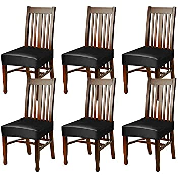 Amazon Com Fuloon Dining Chair Seat Covers Pu Leather