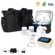 BelleMa S5 Single/Double Hospital Grade Electric Breast Pumps, with IDC Technology, Touch Screen Cordless (Value Pack)