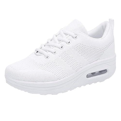 Zapatillas Casual,Mujeres de Ocio Malla Transpirable Espesor Inferior Zapatos Deportivos de Fondo Damas Zapatillas Mujer Botines Plataforma Bota Boots ...