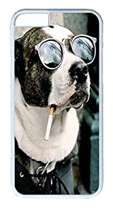 "ICORER iPhone 6 Case Cool Dog PC Case Cover for Apple iPhone 6 Recommended Customize Designer Case for iPhone 6 4.7"" White"