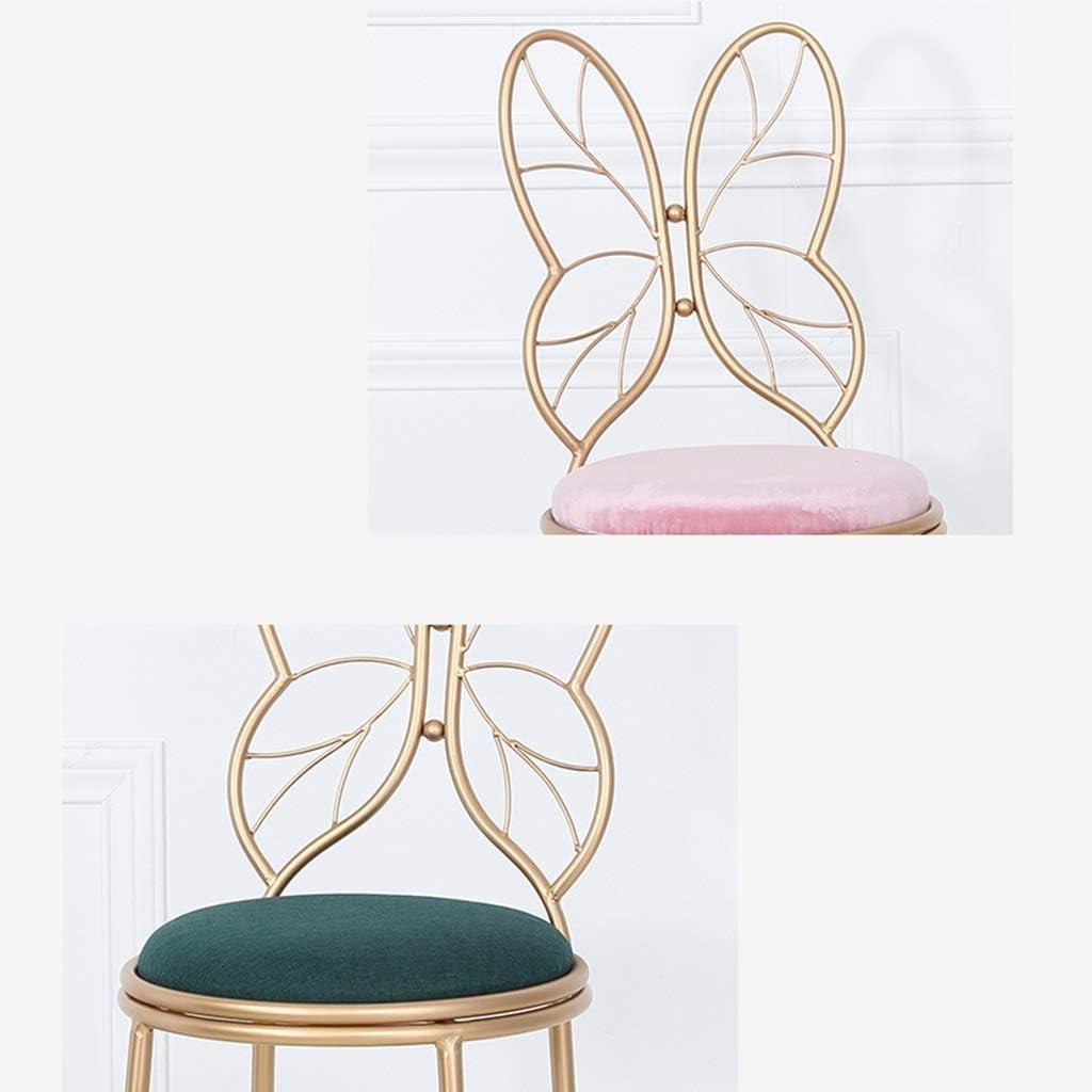 YUiiTI Chaise de maquillage, manucure fauteuil en métal