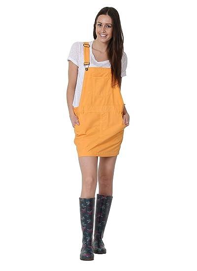 USKEES Claire Peto Falda - Naranja Oversized Vestido Dungaree ...