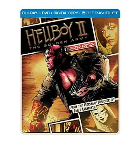 Hellboy II: The Golden Army (Steelbook) (Blu-ray + DVD + Digital Copy + UltraViolet) by Universal Studios by Guillermo del (Universal Studios Steelbook)