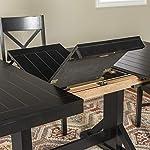 "Walker Edison Furniture Dining Table, 60""-77"", Black"