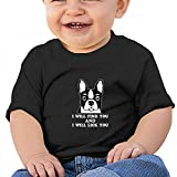 Sfjgbfjs Black Baby I Will Find You I Will Lick You T-Shirt 12M Soft Cozy Infant Short Sleeve Undershirts
