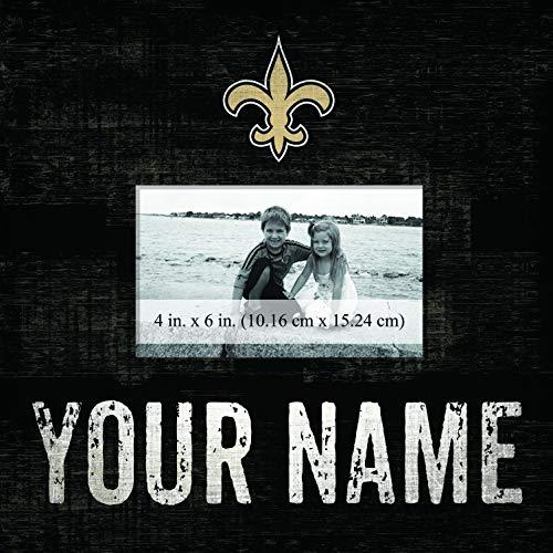 Sidekick Customs New Orleans Saints Personalized Team Color 10x10 Frame