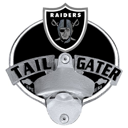 Hitch Bottle Opener (NFL Oakland Raiders Tailgater Hitch Cover, Class III)
