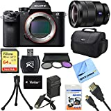 Sony a7S II Full-frame Mirrorless Interchangeable Lens Camera 16-35mm Lens Bundle includes a7S II Body, 16-35mm Full Frame Lens, 72mm Filter Kit, 64GB Memory Card, Bag, Beach Camera Cloth and More