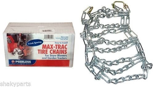 5551 Rotary Set Of 2 480x400x8 Snow Thrower Tire Chains 2 Link Spacing __#G451YH4 51IO3478079