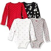 Carter's Unisex Kid's Multi-PK Bodysuits 126g458, Girl Holiday, 6M